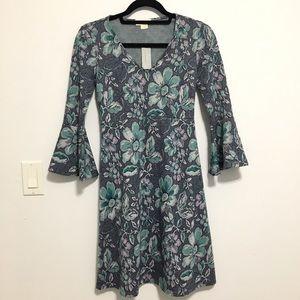 NWT Anthropologie Jacquard Floral Dress